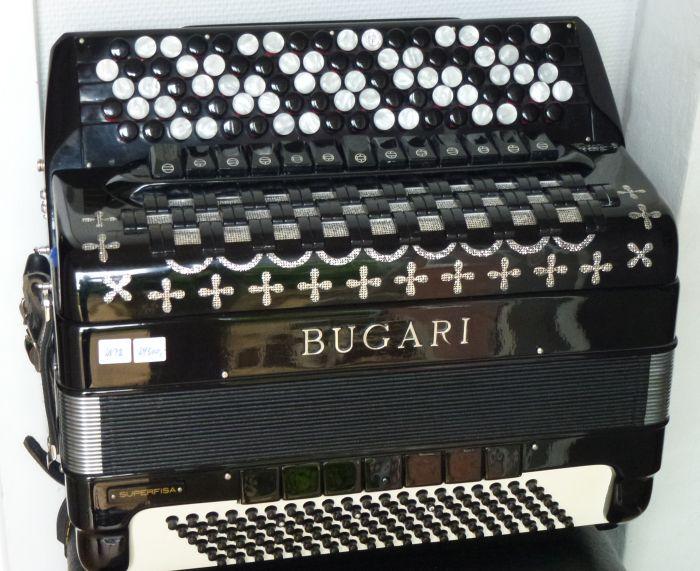 Bugari Armando Special mussett<br />Er med Mute så alle registre har dobbeltfunktion.<br /> Det vil sige at der reelt er 22 registre.<br /> Gode kraftige stemmer